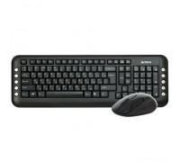 Комплект клавиатура+мышь A4 V-Track 7200N черный беспроводной