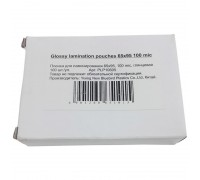 Пленка для ламинатора Office kit 100мкм 100л глянцевая 54x86мм