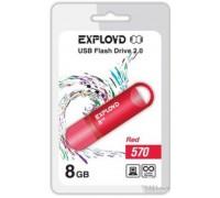 Флеш-накопитель Exployd 8GB USB2.0 570 (красный)
