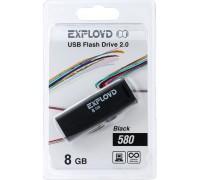 Флеш-накопитель Exployd 8GB USB2.0 580 (черный)