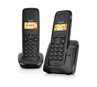 Радиотелефон Dect Gigaset A120 Duo Black RUS (черный)