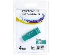 Флеш-накопитель Exployd 4GB USB2.0 560 (зелёный) гар.6 мес.