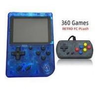 Портативная игровая приставка Retro FC Plus 360-in-1 Crystal Blue