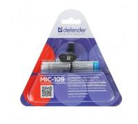 Микрофон Defender MIC-109 на прищепке 1,8м черный