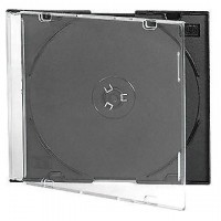 CD-box 1диск Slim color 5mm цветной