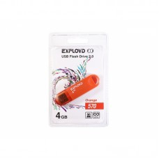 Флеш-накопитель Exployd 4GB USB2.0 570 (оранжевый) гар.6 мес.