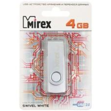 Флеш-накопитель Mirex SWIVEL 4GB белый гар.6 мес.