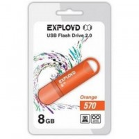 Флеш-накопитель Exployd 8GB USB2.0 570 (оранжевый)