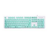 Клавиатура Oklick 400MR белый/мятный USB slim Multimedia гар.6мес