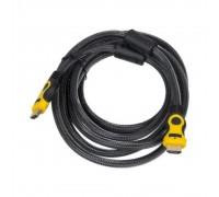 Кабель HDMI(M)-HDMI(M) v1.4-10-NY-BR плетеная обмотка 10 м