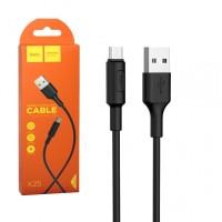 Кабель HOCO X25 USB-MicroUSB черный 1м