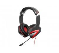 Наушники с микрофоном A4Tech Bloody G500 черный/красный (2.2м) микрофон гар.6 мес.