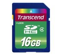 Карта памяти Transcend SD HC Flash Card 16Gb Class 10 гар.6 мес.