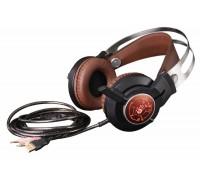 Наушники с микрофоном A4Tech Bloody G430 черный/коричневый (2.2м) мониторы