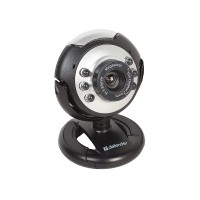 Веб-камера Defender C-110 Black 0.3mp, подсветка, кнопка фото