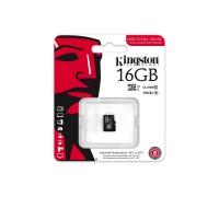 Карта памяти Kingston MicroSD HC Flash Card 16Gb Class 10 гар.6 мес.