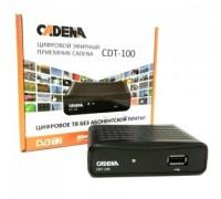 Ресивер DVB-T2 CADENA CDT-100 черный гар.6мес.
