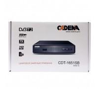 Ресивер DVB-T2 CADENA CDT-1651sb черный гар.6мес.