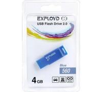 Флеш-накопитель Exployd 4GB USB2.0 560 (синий) гар.6 мес.