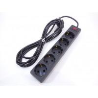 Сетевой фильтр ExeGate 5 розеток 5м черный
