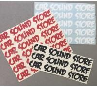 Наклейка CarSoundStore маленькая
