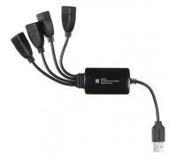 USB-разветвитель Buro BU-HUB4-0.3-U2.0-Splitter 4порт. черный
