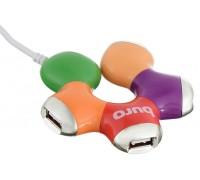 USB-разветвитель Buro BU-HUB4-0.5-U2.0-Flower 4порт. разноцветный
