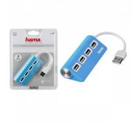 USB-разветвитель Hama TopSide (12179) 4-порта USB 2.0 голубой