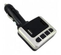 Автомобильный FM-модулятор FM-05BT 2xUSB серебро гар. 3 мес.