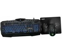 Комплект Qumo AFTERSHOCK K52/M68 клавиатура/мышь/коврик