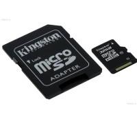 Карта памяти Kingston MicroSD HC Flash Card 32Gb Class 10 + Adapter microSD--> SD гар.6 мес.