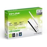Адаптер TP-Link TL-WN722N 150Mbps High Gain Wireless N USB Adapter with Cradle, Atheros, 1T1R, 2.4GHz