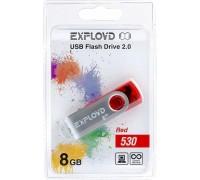 Флеш-накопитель Exployd 8GB USB2.0 530 (красный)