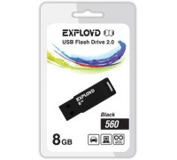 Флеш-накопитель Exployd 8GB USB2.0 560 (черный)
