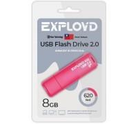 Флеш-накопитель Exployd 8GB USB2.0 620 (красный)