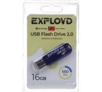 Флеш-накопитель Exployd 8GB USB2.0 650 (синий)